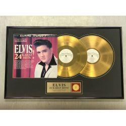 """Vergoldete Schallplatte - Elvis Presley """"24 KARAT HITS"""""""