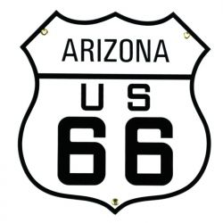 Emailleschild Arizona US 66
