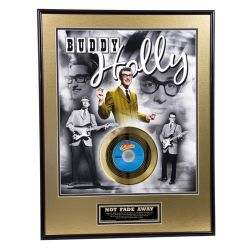 "Vergoldete Schallplatte - Buddy Holly ""Not Fade Away"""
