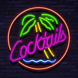 Neon Cocktail Palm Tree