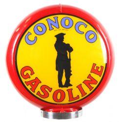 Sapfsäul Globe Conoco Gasoline red