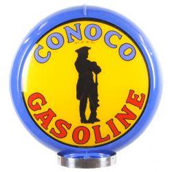 Sapfsäul Globe Conoco Gasoline Blue