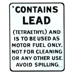 Emailleschild Contains Lead