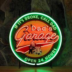 Dad's Garage neon
