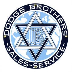 Emailleschild Dodge Brothers