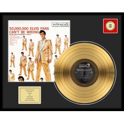 "Vergoldete Schallplatte - Elvis Presley ""50 Million Fans"""