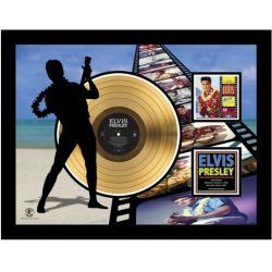 """Vergoldete Schallplatte - Elvis Presley """"Blue Hawaï Etched"""""""
