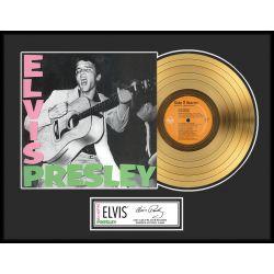 """Vergoldete Schallplatte - Elvis Presley """"Gold LP LE 1000"""""""