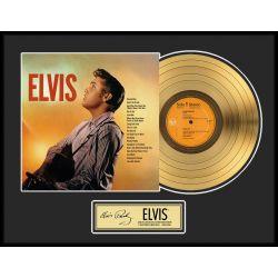 """Vergoldete Schallplatte - Elvis Presley """"Gold LP LE 2500"""""""