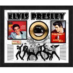 """Vergoldete Schallplatte - Elvis Presley """"Jailhouse Rock"""""""