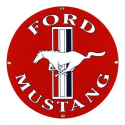 Emailleschild Ford Mustang