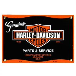 Emailleschild Harley Parts