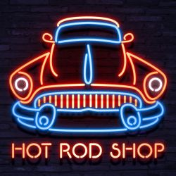 Neon Hot Rod Shop