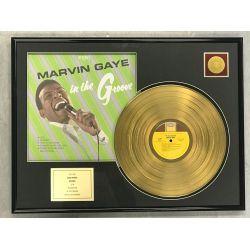 """Vergoldete Schallplatte - MARVIN GAYE  """"IN THE GROOVE"""""""