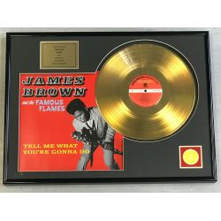 "Vergoldete Schallplatte - JAMES BROWN  ""TELL ME WHAT YOU'RE GONNA DO"""