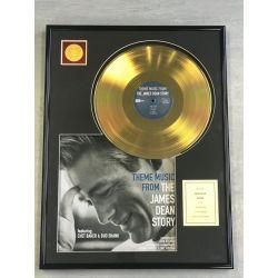 "Vergoldete Schallplatte - JAMES DEAN ""THE JAMES DEAN STORY"""