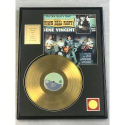 "Vergoldete Schallplatte - GENE VINCENT ""TOWN HALL PARTY"""