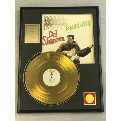 """Vergoldete Schallplatte - DEL SHANNON """"RUNAWAY"""""""