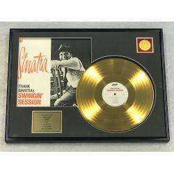 "Vergoldete Schallplatte - FRANK SINATRA ""SWINGIN' SESSION"""