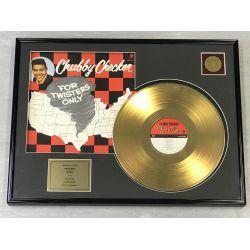"Vergoldete Schallplatte - CHUBBY CHECKER ""FOR TWISTERS ONLY"""