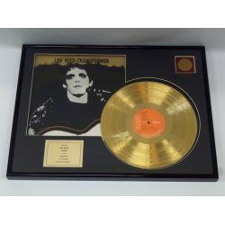 "Vergoldete Schallplatte - Lou Reed  ""Transformer"""