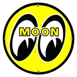 Emailleschild Moon