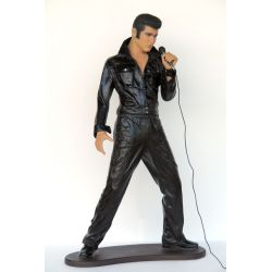 Statue Elvis with Microphone