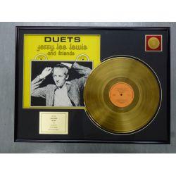 """Vergoldete Schallplatte - JERRY LEE LEWIS """"DUETS"""""""