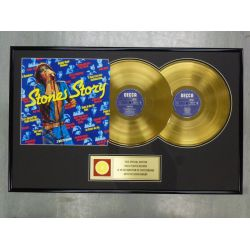 "Vergoldete Schallplatte  - THE ROLLING STONES ""STONE STORY"""