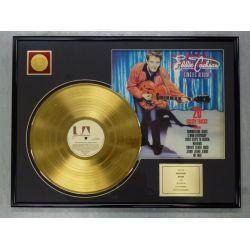 """Vergoldete Schallplatte - EDDIE COCHRAN """"20 GOLDEN TRACKS"""""""
