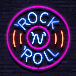 Neon Rock and Roll Circle