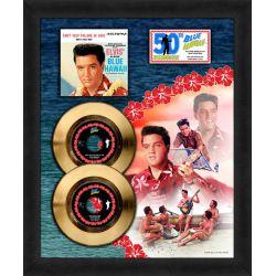 """Vergoldete Schallplatte - Elvis Presley """"Blue Hawaii"""""""