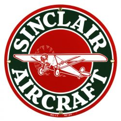 Emailleschild Sinclair Aircraft