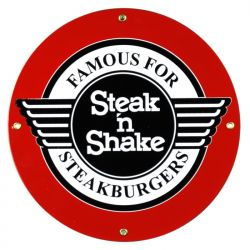 Emailleschild Steak 'n Shake