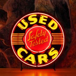 Used Cars neon