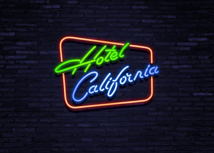Neon Hotel California Jolina Retro Möbel
