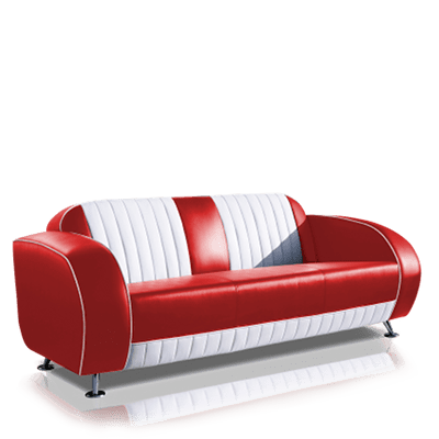 50er jahre sofas retro sofa im stil der fifties jolina. Black Bedroom Furniture Sets. Home Design Ideas